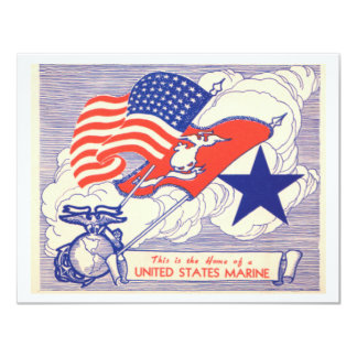 Marine Family Support Gifts 4.25x5.5 Paper Invitation Card