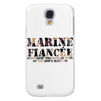 Marine Fiancee Answering Call Galaxy S4 Cover