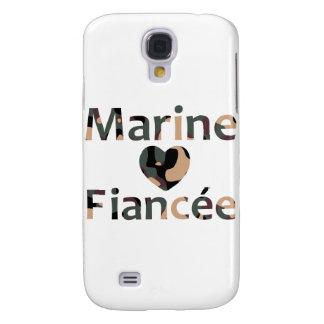 Marine Fiancee Heart Camo Samsung S4 Case