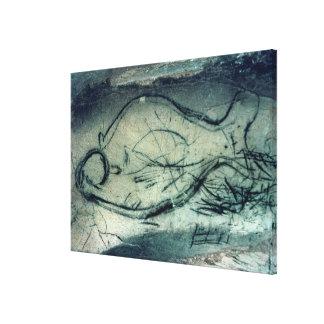 Marine figure, Palaeolithic Period (c.40000-12000 Canvas Print
