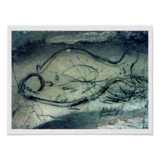 Marine figure, Palaeolithic Period (c.40000-12000 Poster
