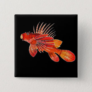 Marine Fire Fish or Lionfish Button