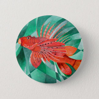 Marine Fire Fish or Lionfish Pinback Button