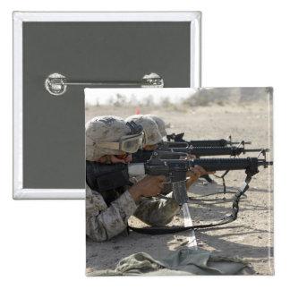 Marine fires their M16A2 service rifles Pinback Button