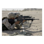 Marine fires their M16A2 service rifles Poster