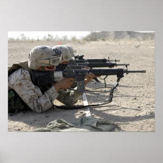 Marine fires their M16A2 service rifles Poster