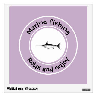 Marine fishing Relax and enjoy Wall Sticker