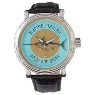 Marine fishing Relax and enjoy Wristwatch