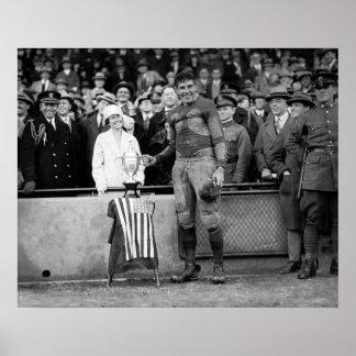 Marine Football: 1925 Poster