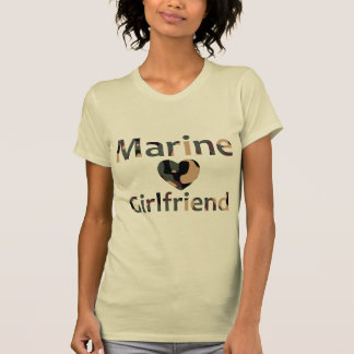 Marine Girlfriend Heart Camo T-Shirt