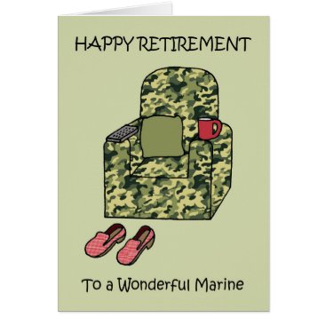 Marine Happy Retirement Card