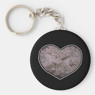 Marine Heart (desert) Keychain