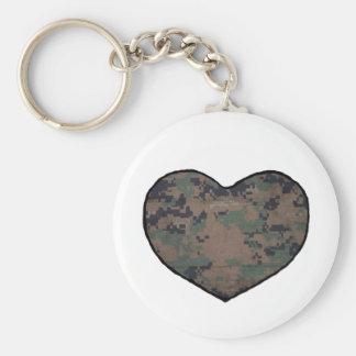 Marine Heart (woods) Keychain