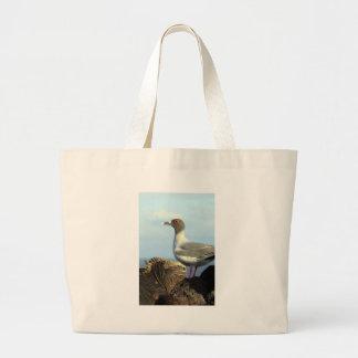 Marine iguana and gull Galapagos Islands Canvas Bag