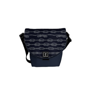 Marine Knots Pattern Courier Bag