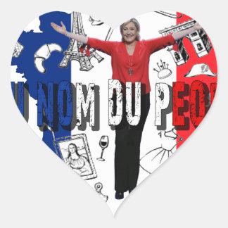 Marine Le Pen Heart Sticker