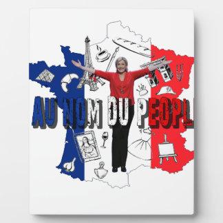 Marine Le Pen Plaque