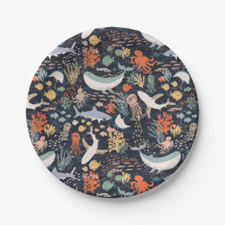 Marine Life 7 Inch Paper Plate