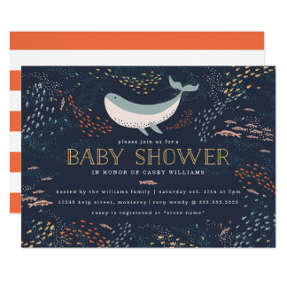 Marine Life Baby Shower Card