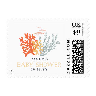 Marine Life Baby Shower Postage Stamps