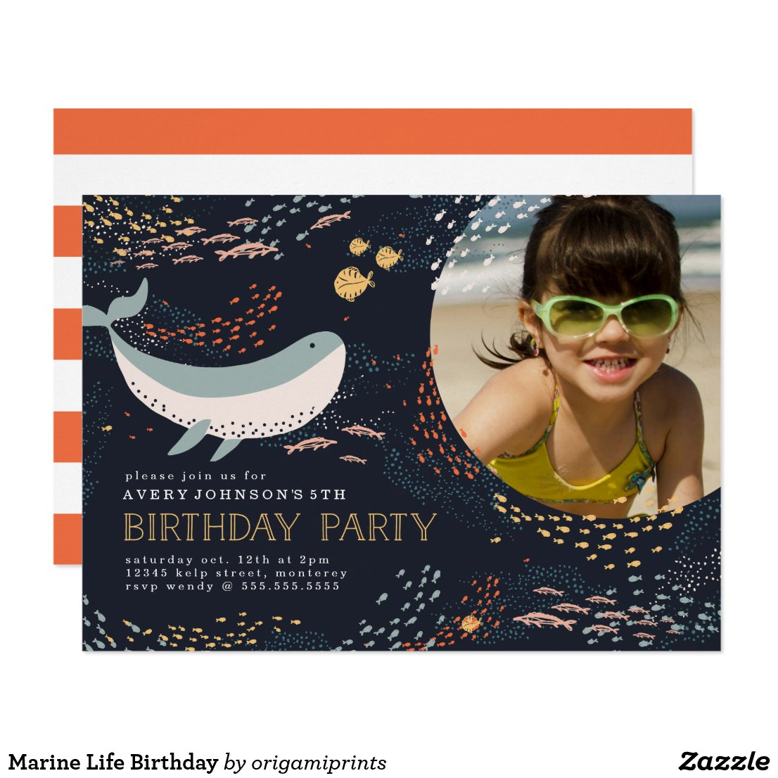 Marine Life Birthday Card