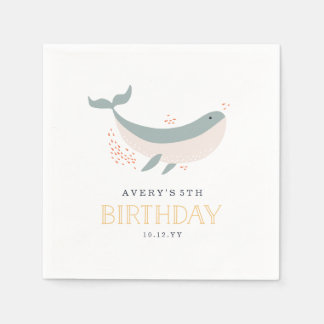Marine Life Birthday Party Napkin