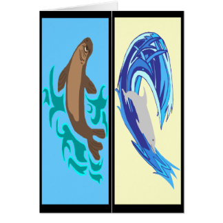 Marine life book markers card