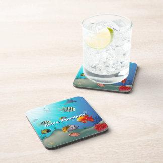 Marine Life Cartoon Drink Coaster