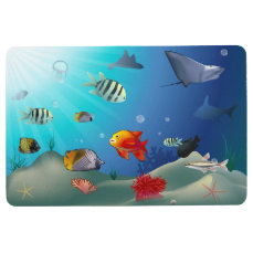 Marine Life Cartoon Floor Mat