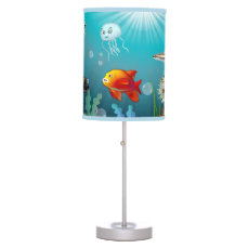Marine Life Cartoon Table Lamp