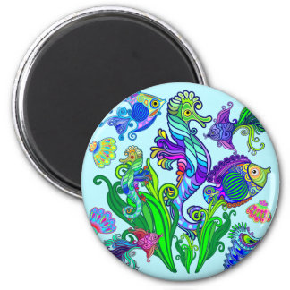 Marine Life Exotic Fishes & SeaHorses Magnet