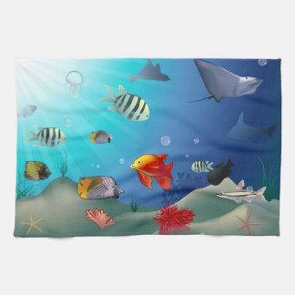 Marine Life Hand Towel