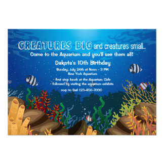 Marine Life Invitation Personalized Invitations