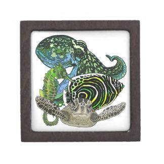 Marine life jewelry box
