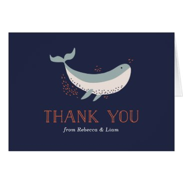 Beach Themed Marine Life Thank You Card