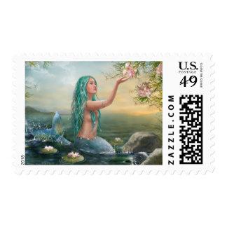 Marine Mermaid Postage Stamp