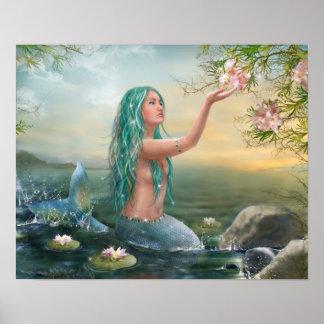 Marine Mermaid Poster