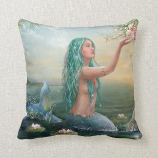 Marine Mermaid Throw Pillow