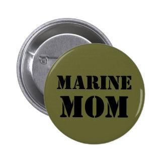 Marine Mom Pinback Buttons