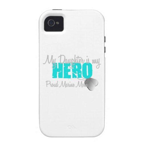 Marine Mom Daughter Hero Vibe iPhone 4 Cases