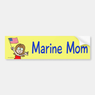 marine mom marines corps patriotism bumper sticker