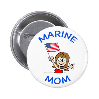 marine mom marines corps patriotism pinback button
