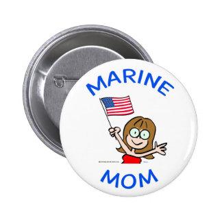 marine mom marines corps patriotism button