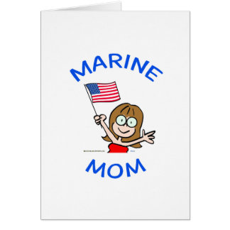 marine mom marines corps patriotism card