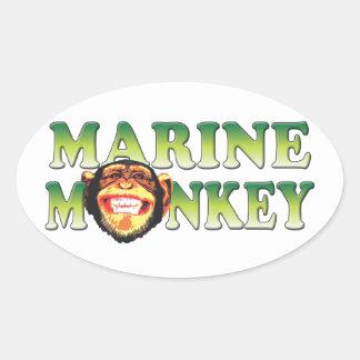 Marine Monkey Stickers