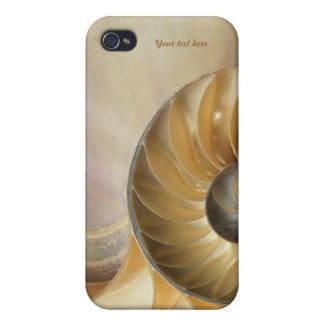 Marine Nautilus SeaShell Macro iPhone 4 Case