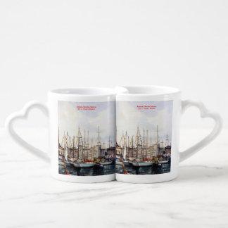 Marine navy//Marinates Couples' Coffee Mug Set