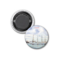 Marine navy//Seascape Magnet