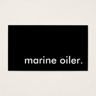 marine oiler. business card