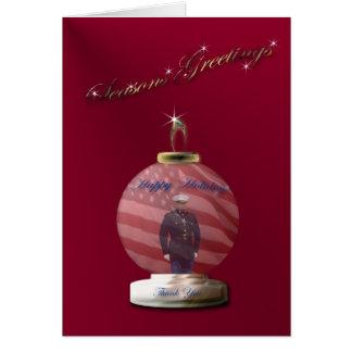 Marine Ornament Christmas Card